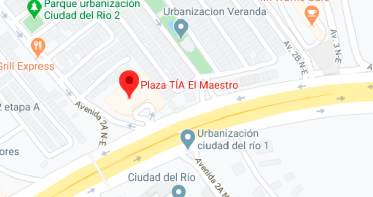 Ubicación Plaza Tia El Maestro